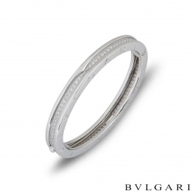 Bvlgari White Gold Diamond B.Zero1 Bangle